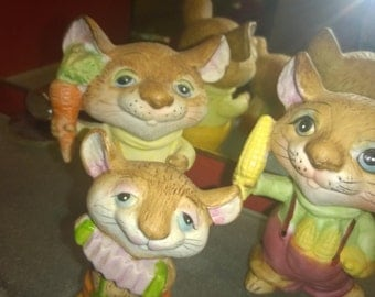 Merry Mice set of 3 with Corn, Carrot and Accordian