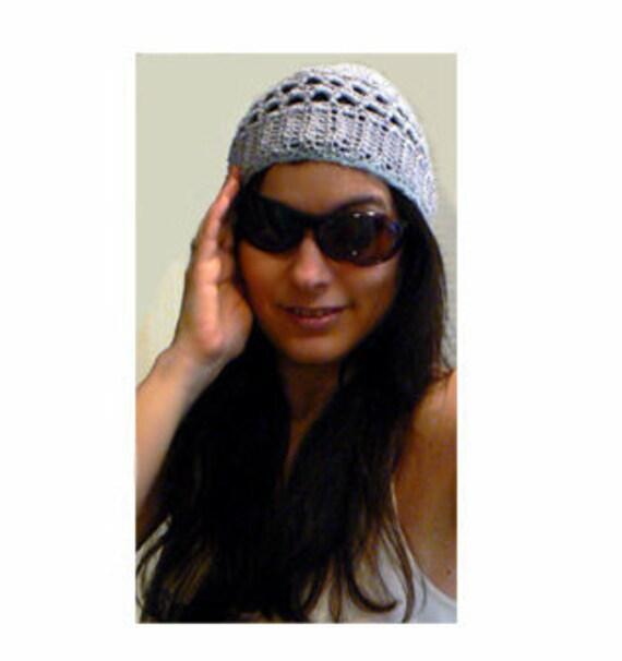 Urban grey crochet beanie. Boho grey crochet beanie. Handmade cotton crochet hat. Fall chic hat. Casual woman hat. Beach beanie.