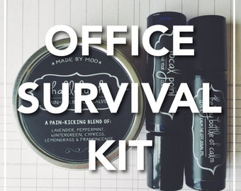 Office Survival Kit - Everything You Need to Manage Stress, Anxiety, Muscle Aches, and Find Your Focus