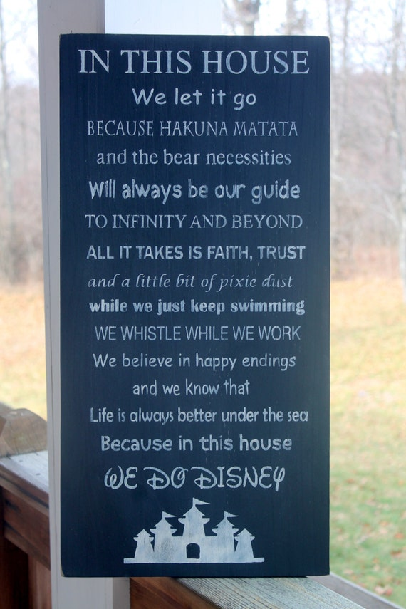 Disney Family Rules Sign Disney Sign Disney By
