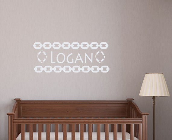 Nautical Wall Decor Boy Name Decals for Nursery by BestDecals