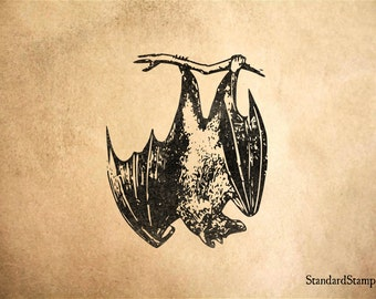 Fruit Bat Rubber Stamp - 2 x 2 inches