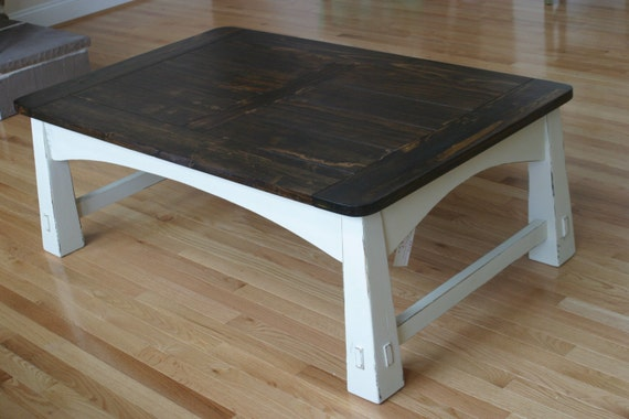 Mission Style Coffee Table Farm House Coffee Table Plank Top Rustic