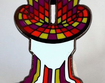 MELTING HATTER! Mad Hatter Inspired Hat PIN!!! Alice in Wonderland Collectible!