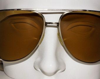 1960s 1970s Aviator Sunglasses Vintage Retro Hippie