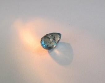 Natural Blue Zircon 3.84ct Briolette cut 10x6mm