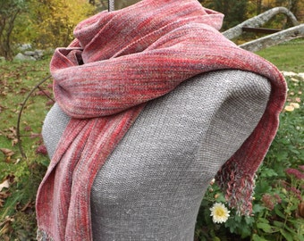 Rose Handwoven Rayon Chenille Scarf