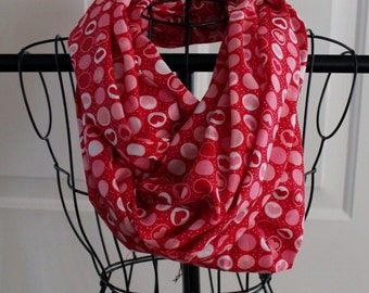 SALE -Heart Infinity Scarf, Valentines day