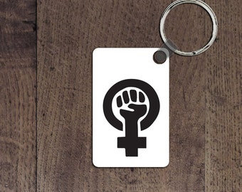 Feminist key chain
