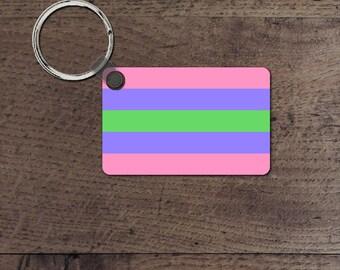 Trigender Pride flag key chain