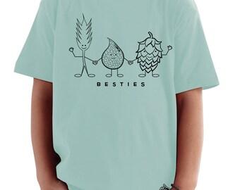 """Craft Beer Toddler Tee- """"Besties"""""""
