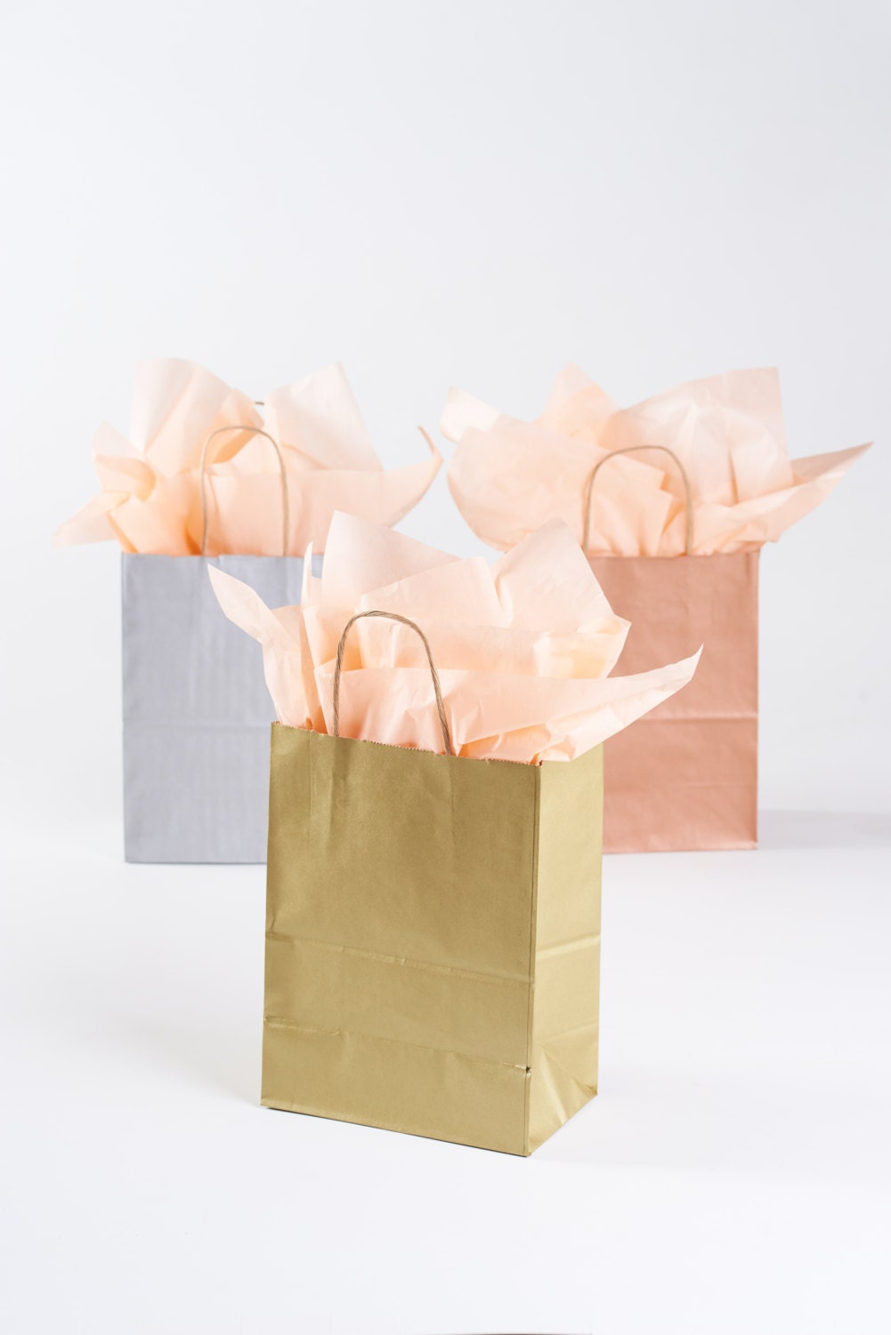Wedding Gift Bags With Handles : 20 Metallic Gold Gift Bags with Handles for Wedding Guests