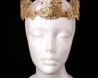 Gold Filigree Crown, Tiara