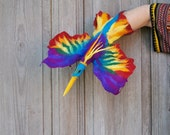 Hand puppet Rainbow Bird,  Bird of Paradise, children's theater, nursery soft toy, felted toy for creative play, eco-friendly toy, OOAK
