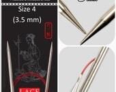 US 4 (3.50mm) Chiaogoo Red Lace Circulars - Choice of Length