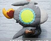 RESERVED for steffstevens - Rocket Pillow Grey, Blush Pink, Pale Aqua