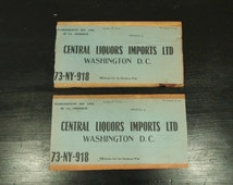 Pair of Wine Crate End Panel with Labels / French Wine Labels / Washington DC Importer