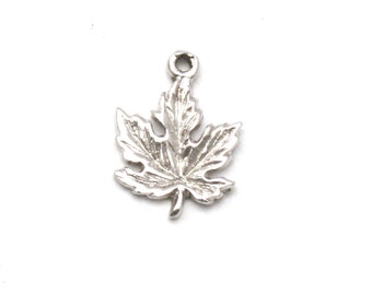 Canadian Maple Leaf Bracelet Charm Vintage Sterling Silver