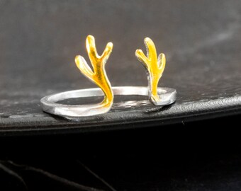 Antler ring - 925 Sterling Silver Edition