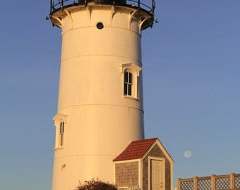 Nobska Lighthouse Photography Cape Cod Coastal Home Decor Falmouth Nautical Photograph Classic New England Lighthouse Seaside Landscape