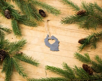 Heart Tanzania Christmas Ornament, Steel Ornament or Decoration