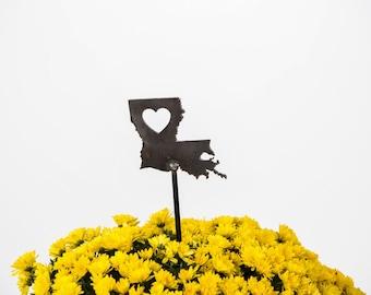Louisiana State Heart Garden Art Stake