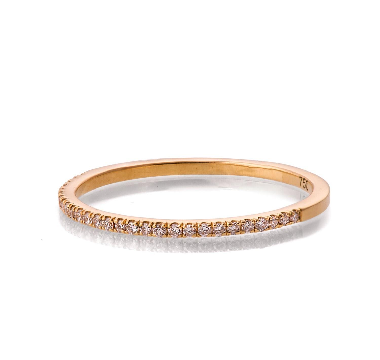 Half Eternity Band Bands: Half Eternity Ring 18K Gold And Diamond Ring Diamond Band