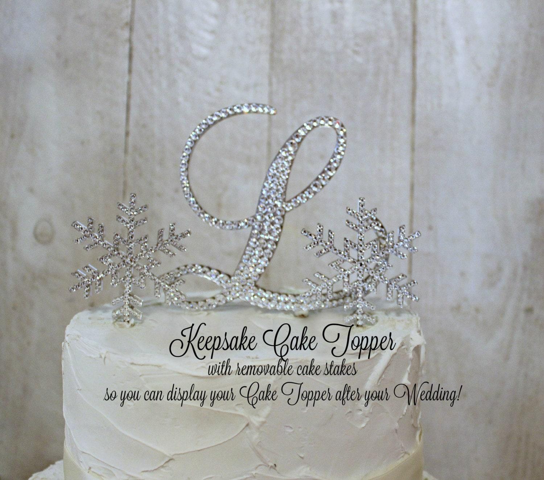 Snowflake Wedding Cake Topper KEEPSAKE Winter Wonderland Cake