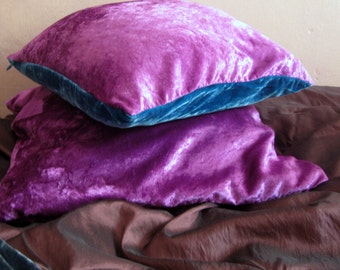 Dark Purple Pillow Etsy