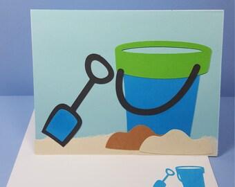 Sand Bucket Blank Card