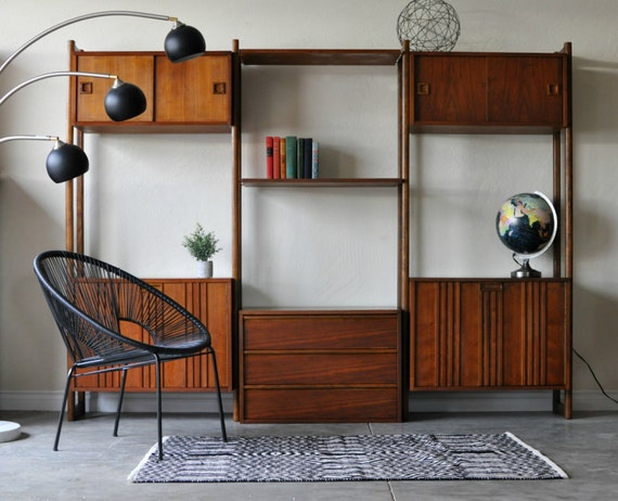 sold mid century danish modern modular wall unit by