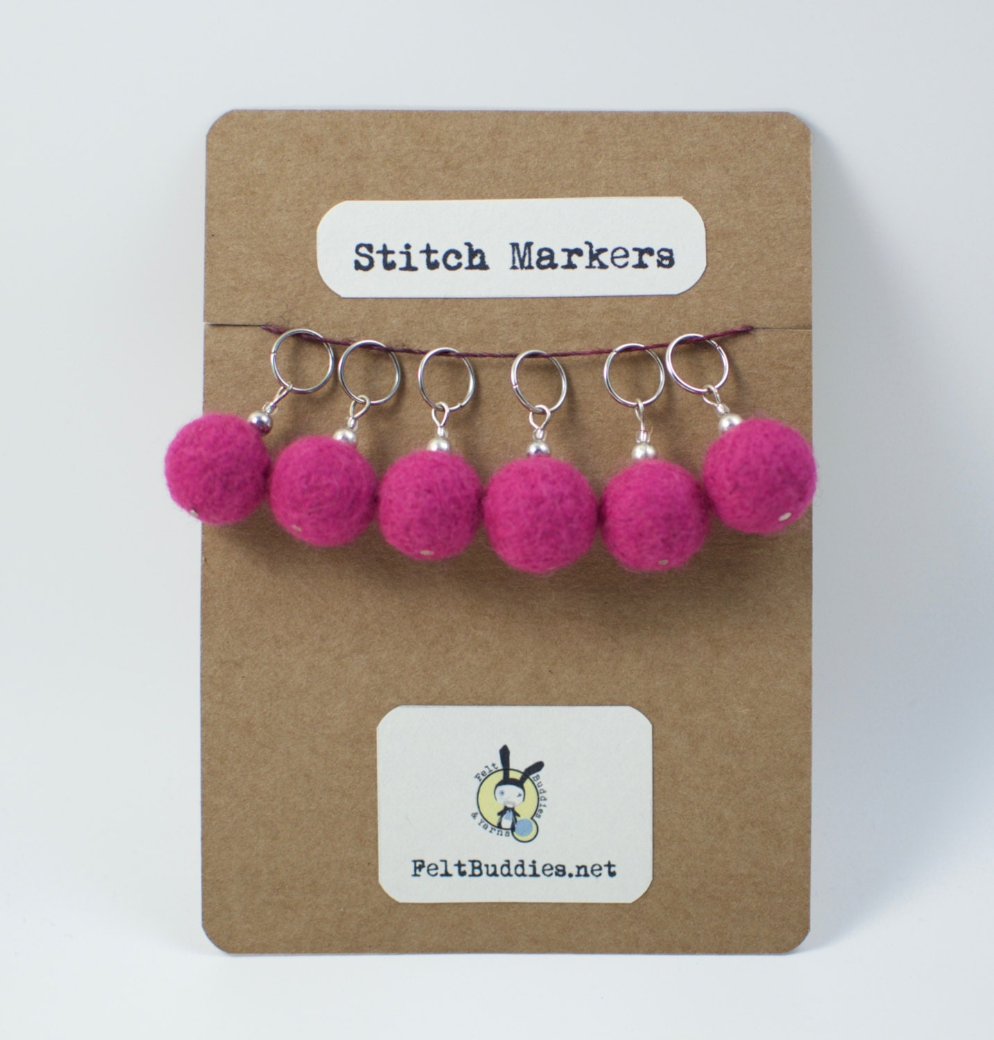 Knitting Markers Etsy : Stitch markers set of pink knitting notions from