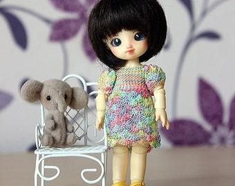 Rainbow lace dress for Puki-Puki, Brownie