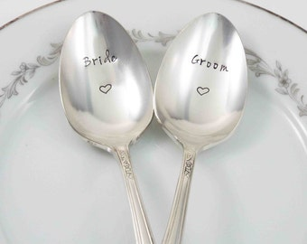 Wedding Spoons, Bride Groom Spoons, Groom Groom Spoons, Bride Bride Spoons, Wedding Gift, Gift for Couples, Personalized Spoons