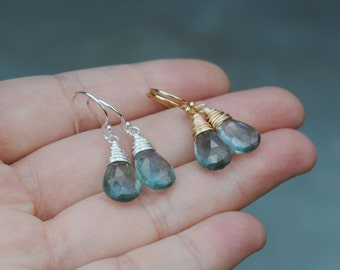 Moss Aquamarine Earrings, Aquamarine Earrings, March Birthstone Earrings, Aquamarine Jewelry