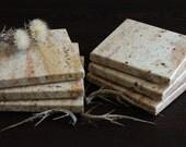 "Stone Coasters Set Of Six From Natural Stone Granite ""Madura Gold"""