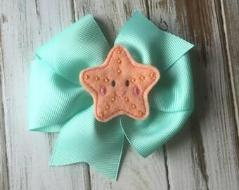 Starfish Hair Bow