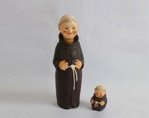 porcelain decanter and saltshaker Goebel (Gemany) - Friar Tuck