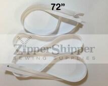 Duvet Zipper, White Zipper, Long, 72 Inch (6 feet) #3 Nylon Coil Zipper For Cushions, Bedding, Upholstery + More, 1 Piece