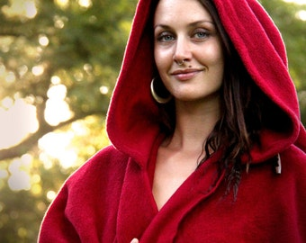 FLEECY HOODIE CAPE, Handmade, Medieval, Lord of the Rings, Cosplay, Goddess, King, Queen, Witch, Wizard, Australian Made