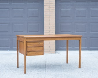 Mid Century Desk by Peter Lovig Nielsen for Dansk w/ Hidden Drawers