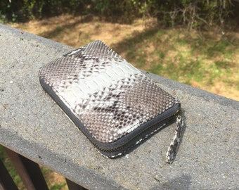 Snake Skin Leather Wallet~Snake Skin Coin Pouch~Python Wallet~Snakeskin Wallet~Snake Skin Purse~Snakeskin Purse~Vedora~Leather Coin Bag