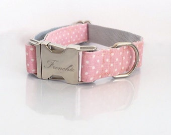 "Adjustable dog collar ""Sweet dots"""