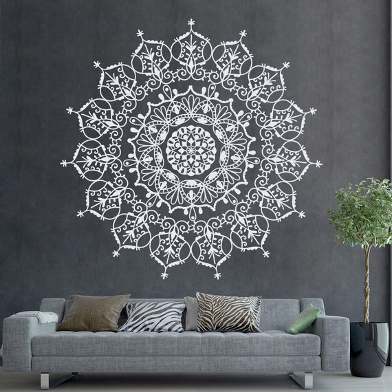 Bohemian Indian Pattern Mandala Wall Decals Floral By