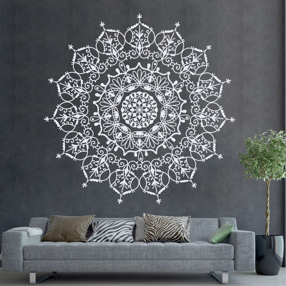 Bohemian Indian Pattern Mandala Wall Decals Floral by ...