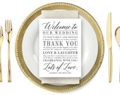 Personalized Wedding Welcome Cards - Printable, Instant Download