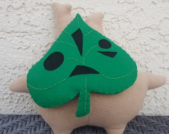 Makar Plush (with jingle-bell) - XL Korok Plush - Zelda - Forest Spirit - Made to Order