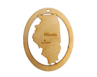 Illinois Ornament - Illinois Ornaments - Illinois Gift - State of Illinois Ornament - Illinois Gifts - Illinois Souvenir - Personalized Free