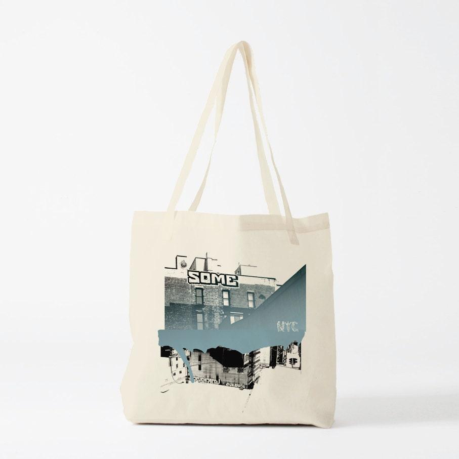 Art Bag Nyc Tote Bag New York Graffiti Canvas Bag Groceries Bag Shopping