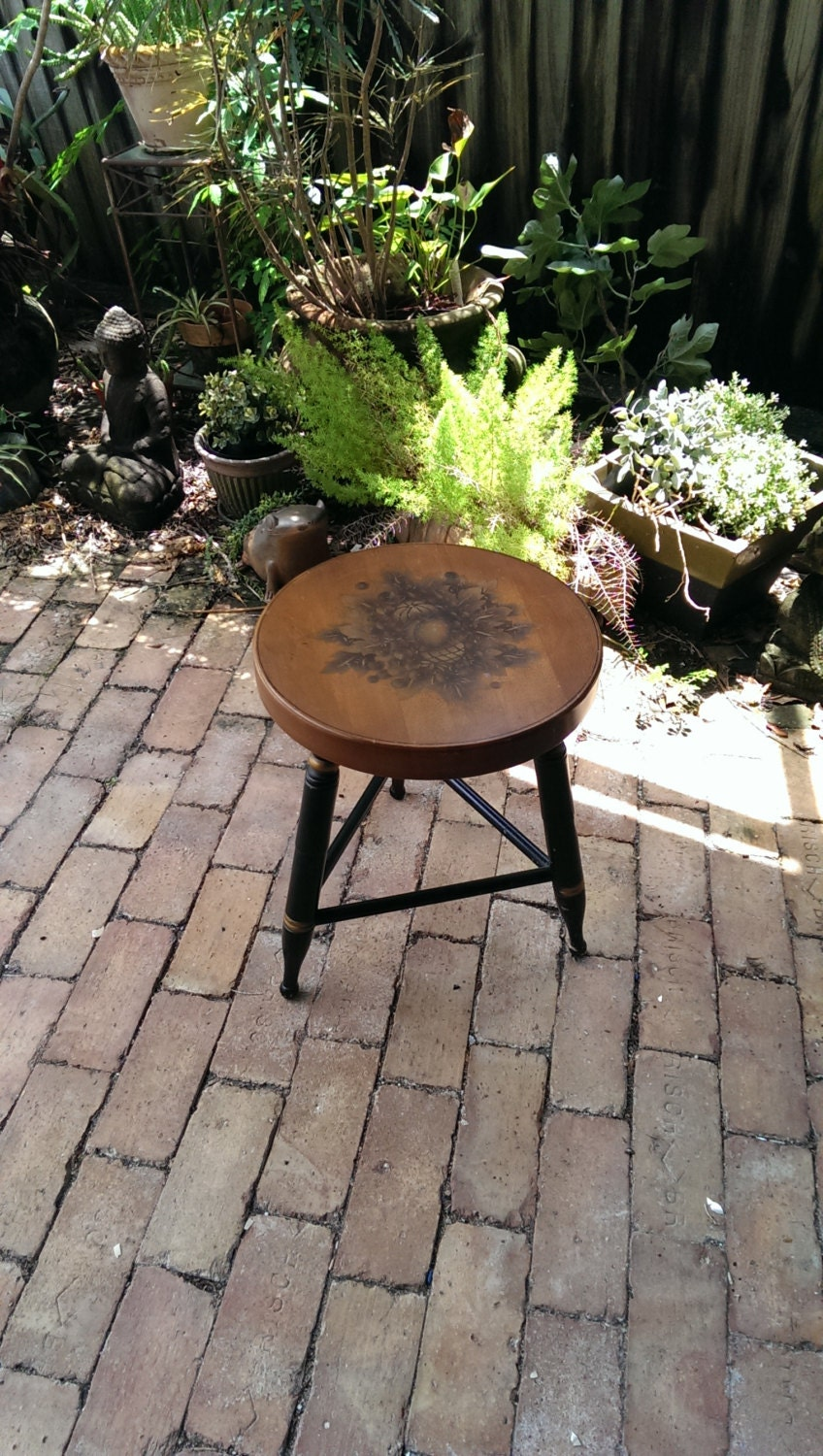 Reserved For Rita Hitchcock Harvest Maple Milking Stool